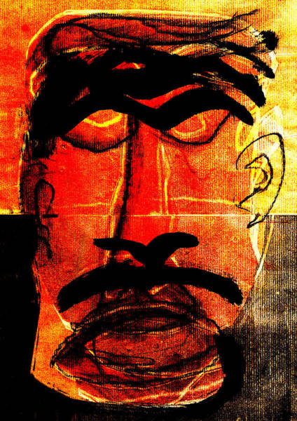 Digital Art - Man Face Digital 10 by Artist Dot
