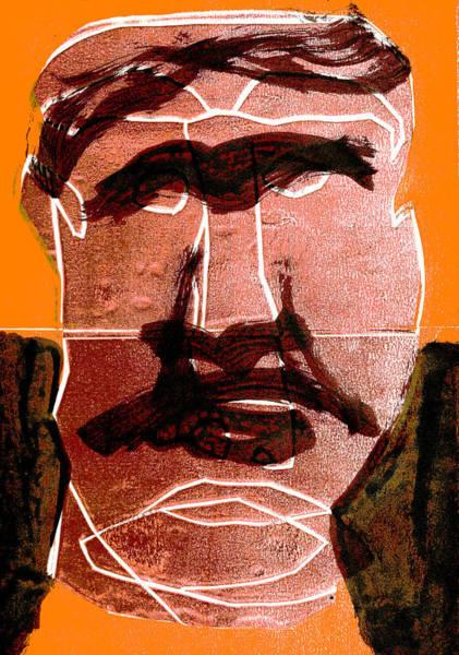 Digital Art - Man Face Digital 12 by Artist Dot