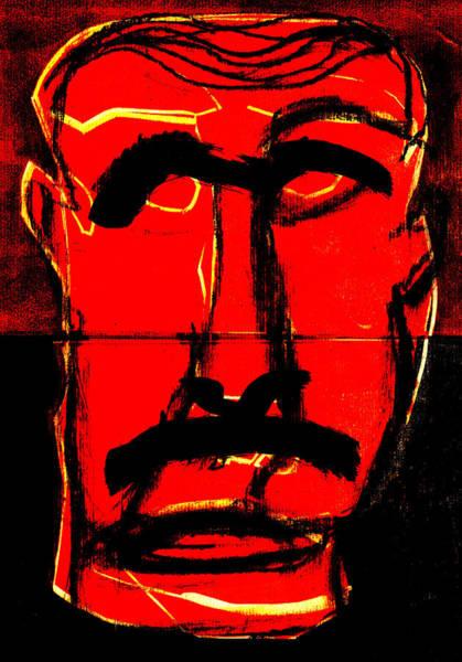 Digital Art - Man Face Digital 13 by Artist Dot