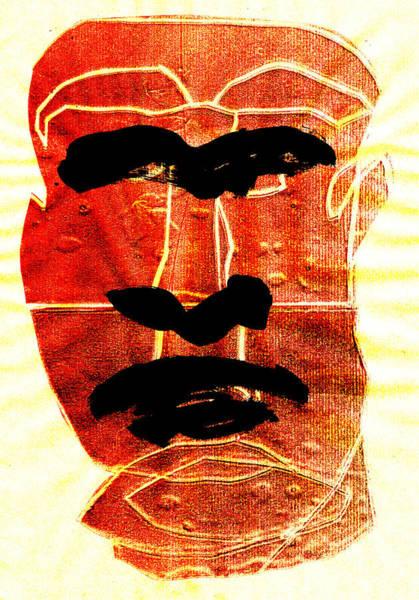 Digital Art - Man Face Digital 2 by Artist Dot