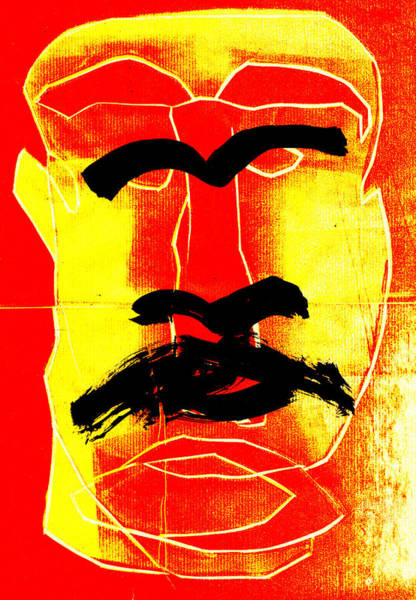 Digital Art - Man Face Digital 3 by Artist Dot