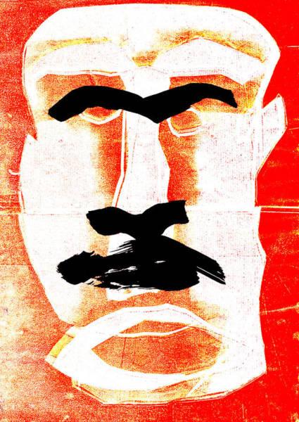 Digital Art - Man Face Digital 5 by Artist Dot