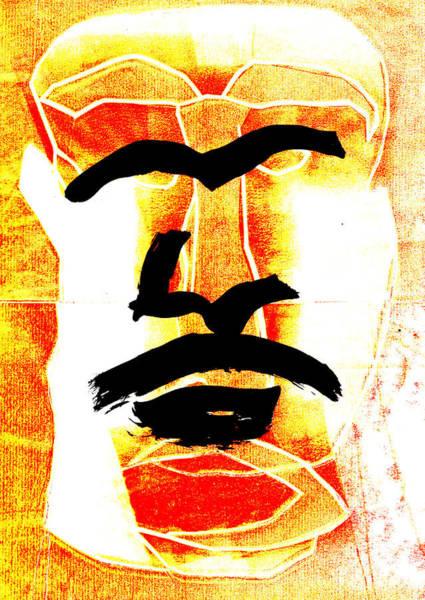 Digital Art - Man Face Digital 6 by Artist Dot