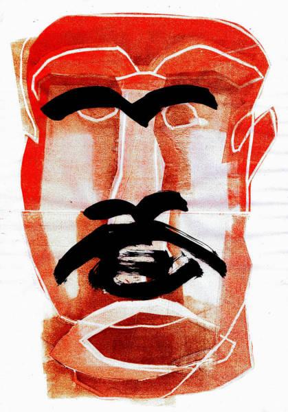 Digital Art - Man Face Digital 7 by Artist Dot