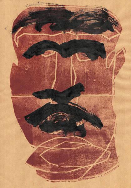 Relief - Man Face Original 1 by Artist Dot