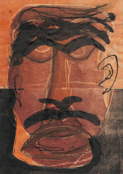 Relief - Man Face Original 10 by Artist Dot