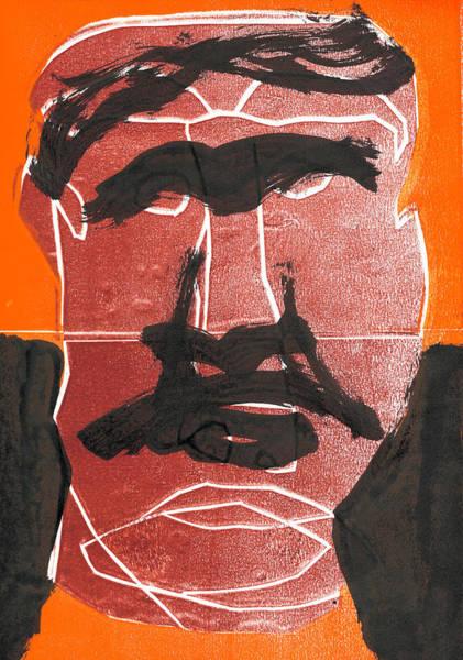Relief - Man Face Original 12 by Artist Dot