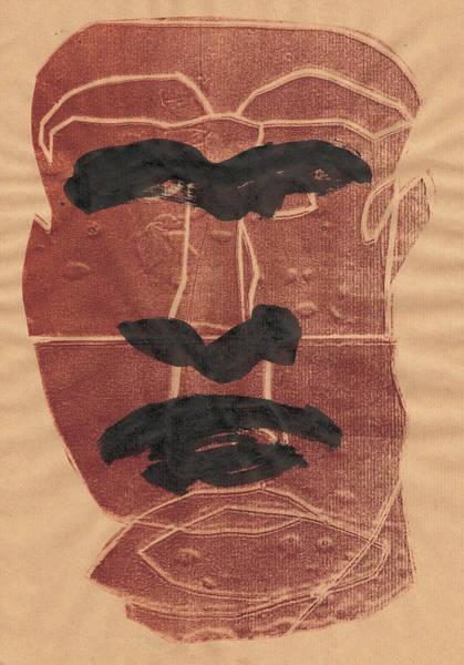 Relief - Man Face Original 2 by Artist Dot