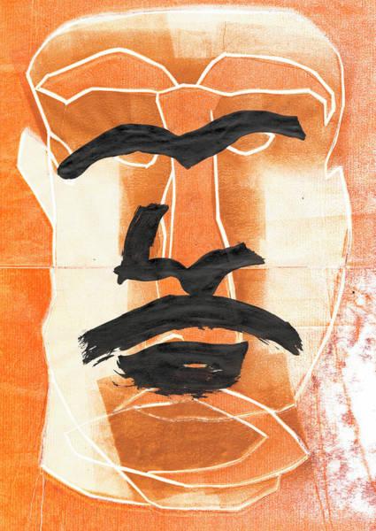 Relief - Man Face Original 6 by Artist Dot