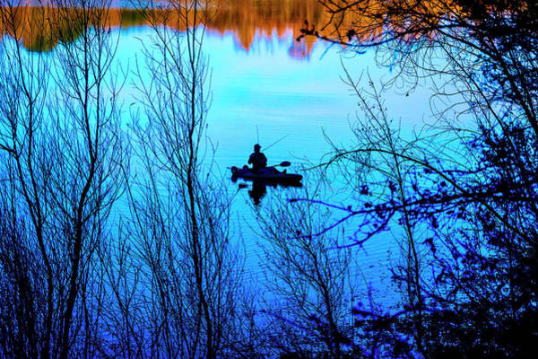 Wall Art - Photograph - Man Fishing From Small Boat by Garry Gay