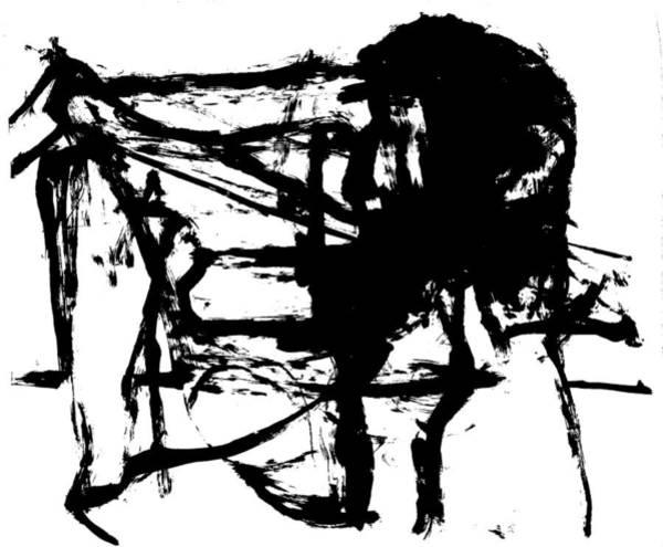 Drawing - Man Holding Up A Bridge by Artist Dot