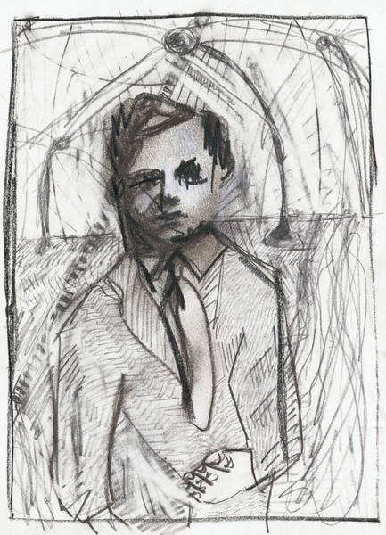 Drawing - Man In A Tie by Artist Dot