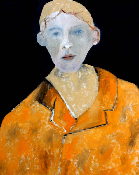 Painting - Man In An Orange Jacket by Artist Dot