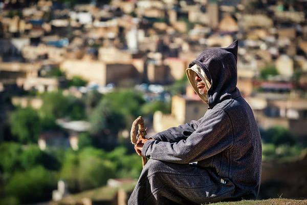 Photograph - Man In Djellaba - Morocco by Stuart Litoff