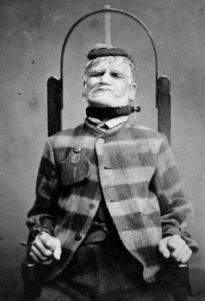 Wall Art - Painting - Man In Restraint Chair, 1869 by Henry Clarke
