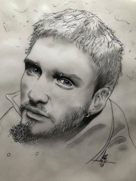 Layne Staley Wall Art - Drawing - Man In The Box by John Creekmore
