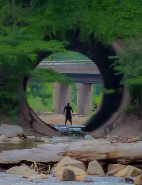 Photograph - Man In The Tunnel by Lora J Wilson