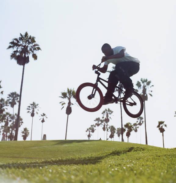 Bmx Photograph - Man Jumping On Bike by Jason Todd