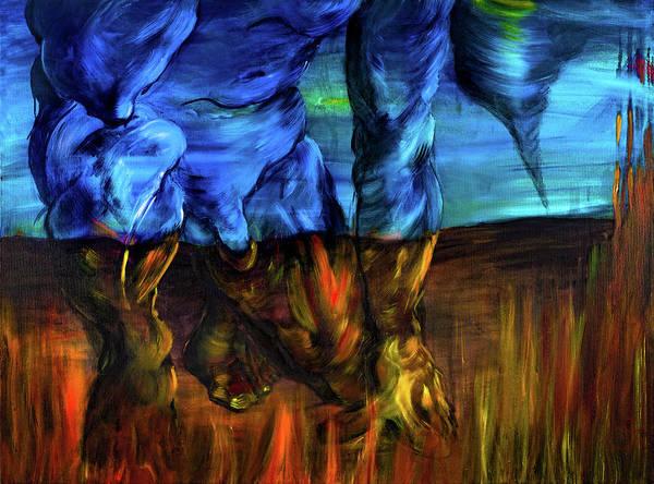 Destructive Painting - Man Malignant Power by Walpurgis Muse
