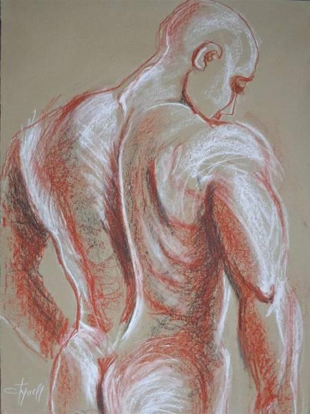 Wall Art - Drawing - Man Nude Figure 4 by Carmen Tyrrell