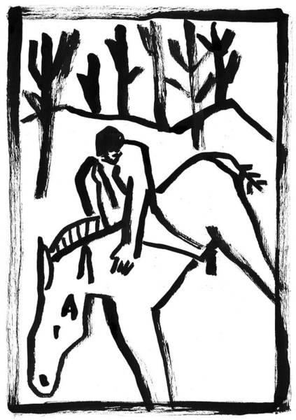 Painting - Man On Horseback by Artist Dot