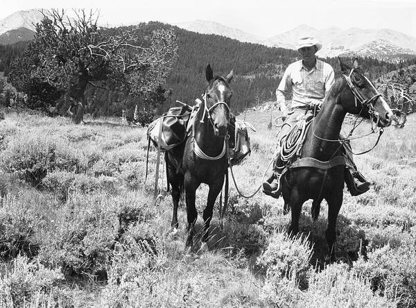 Scenery Photograph - Man On Horseback by George Marks