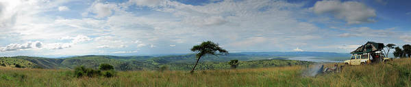Wall Art - Photograph - Man Overlooking A Savannah In Rwanda by Rollingearth