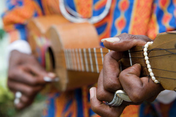 Caribbean Photograph - Man Playing Caribbean Mandolin, Grand by Holger Leue