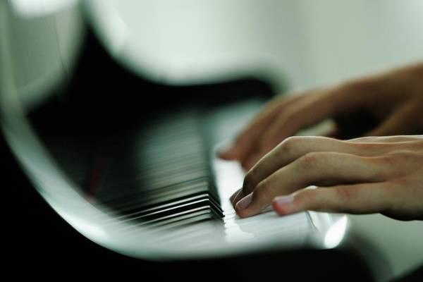 Piano Photograph - Man Playing Piano, Close-up Hands by Jan Greune / Look-foto