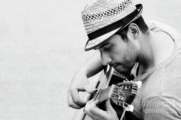 Wall Art - Photograph - Man Plays The Guitar by Jelena Jovanovic