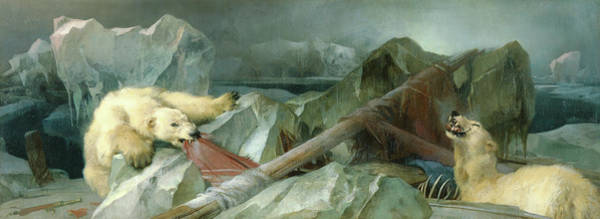 Wall Art - Painting - Man Proposes, God Disposes, 1864 by Edwin Landseer