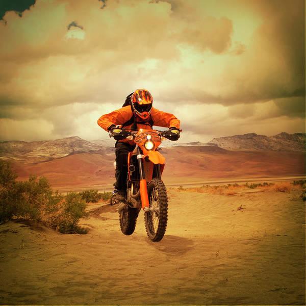 Wall Art - Photograph - Man Riding Motocross Bike by Anne-marie Weber
