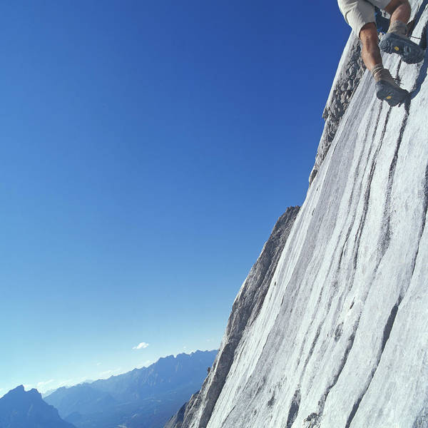 Climbing Photograph - Man Rock Climbing, Low Section by Ascent/pks Media Inc.