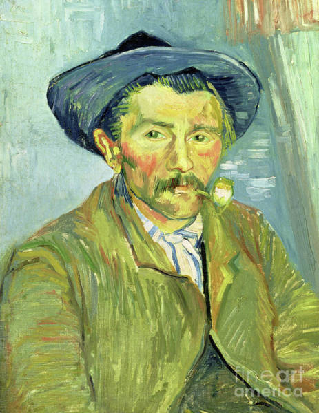 Mustache Painting - Man Smoking, 1888 by Vincent Van Gogh