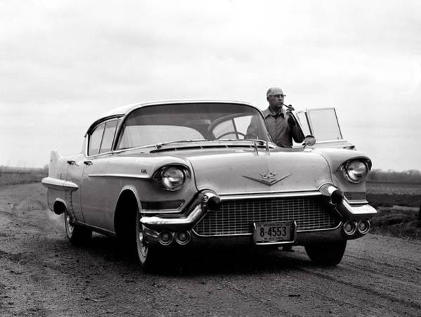 Photograph - Man Smoking Pipe By 1958 Cadillac by Marilyn Hunt