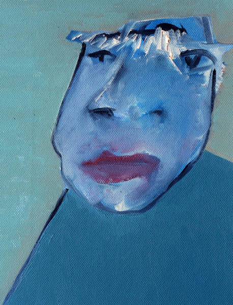 Painting - Man Wearing A Hat by Artist Dot
