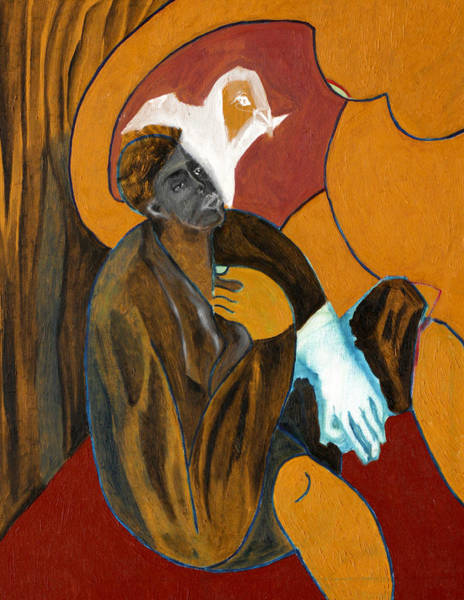 Painting - Man With A Blue Glove by Artist Dot