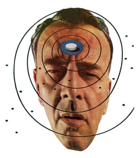 Men Digital Art - Man With A Headache And Pill by Graphicaartis