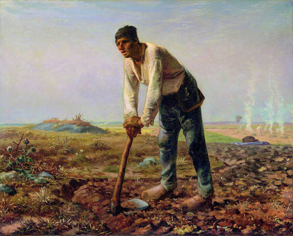 Wall Art - Painting - Man With A Hoe - Digital Remastered Edition by Jean-Francois Millet