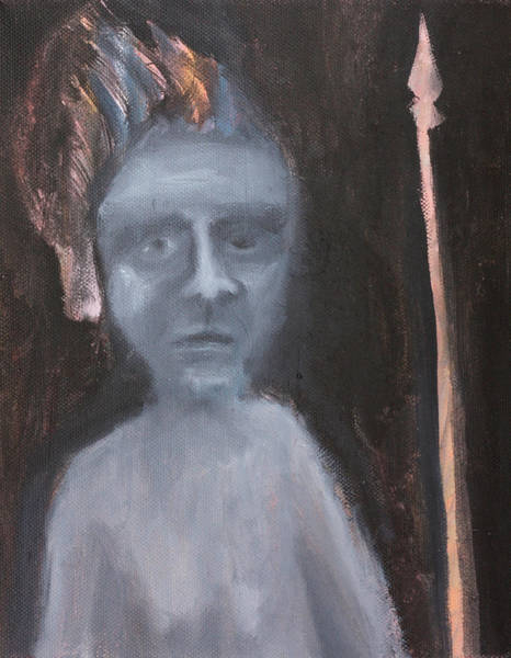 Painting - Man With A Spear by Artist Dot