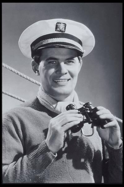Binoculars Photograph - Man With Binoculars, Sailing Costume by Archive Holdings Inc.