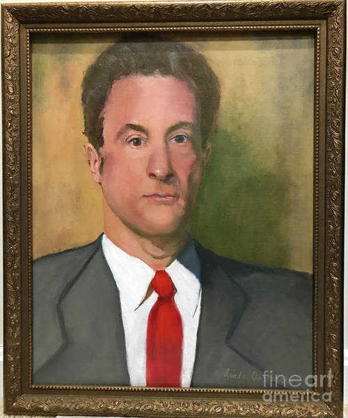 Painting - Man With Red Tie by Linda Anderson