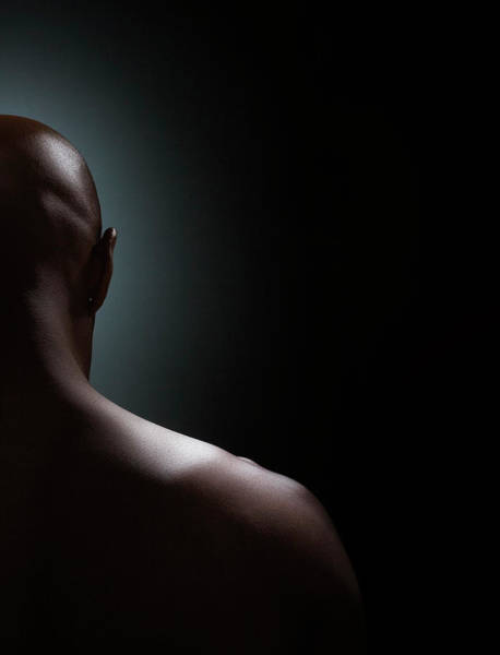 Shaved Head Photograph - Man, With Shaved Head, Rear View by Scott Kleinman
