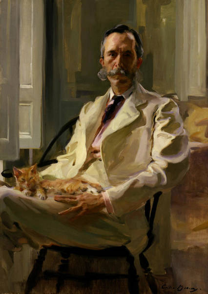 Painting - Man With The Cat by Cecilia Beaux