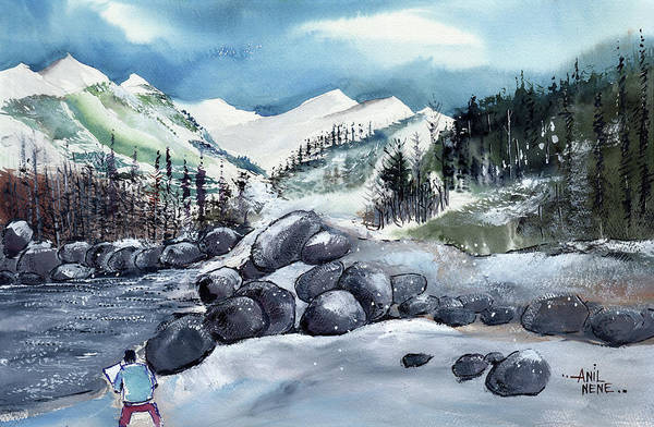Painting - Manali 4 by Anil Nene