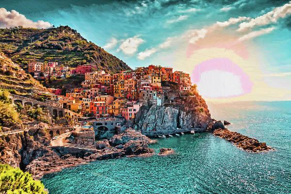 Painting - Manarola La Spezia Italy - Dwp1721005 by Dean Wittle