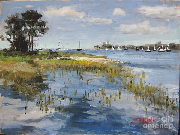 Wall Art - Painting - Manchester By The Sea by Laura Lee Zanghetti