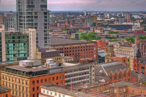 Manchester City Wall Art - Photograph - Manchester From The Town Hall Bell Tower by Andrew Paul Lane (joshuakaitlyn)