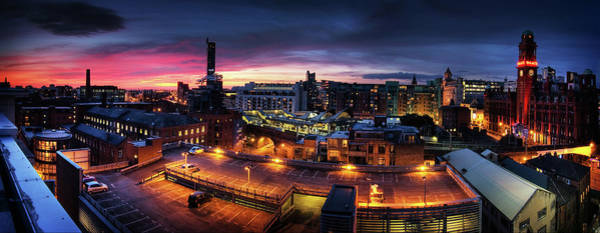 Greater Manchester Wall Art - Photograph - Manchester, Uk, Panorama by Mike Plunkett