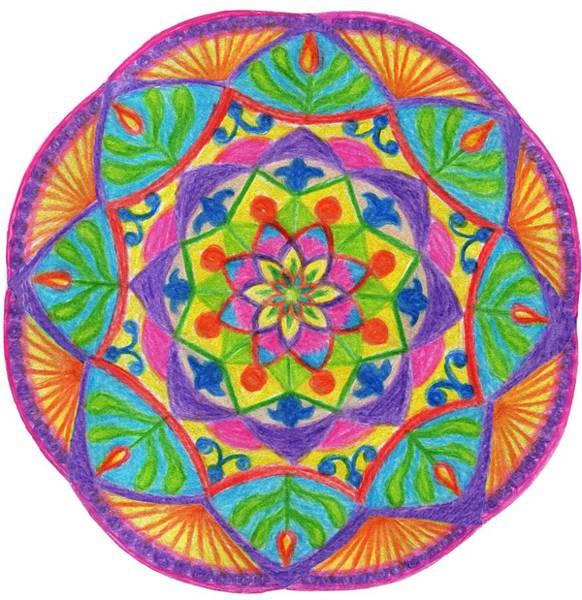 Drawing - Mandala 2 by Irina Dobrotsvet